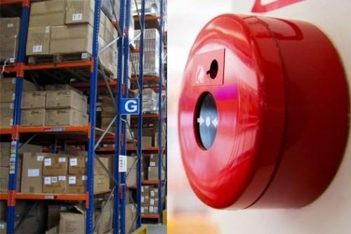 монтаж систем пожарной сигнализации на складе